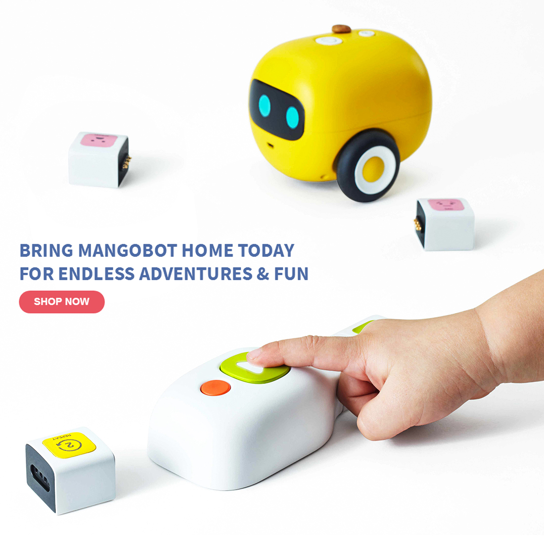 Mangobot Visual No Screen Programming Type Enlightenment Building Block Secretly Teaches Coding Steam Robot Toy For Children