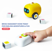 Mangobot Visual No Screen Programming Type Enlightenment Building Block Secretly Teaches Coding Steam Robot Toy For Children