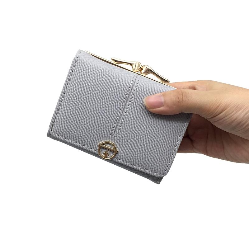 2018 søte små kvinner lommebøker lær korte vesker kvinner høy kvalitet pengesekk kort holder mini damer lommebok Carteira feminin