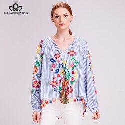 Bella philosophy 2017 casual blouse women ethnic embroidery shirt boho long lantern sleeve shirt blouse ladies.jpg 250x250