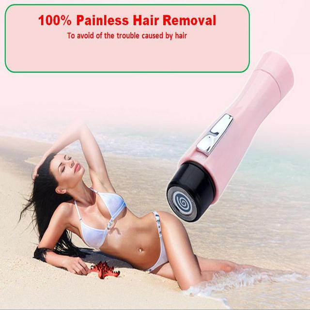 Mini Impermeable Depiladora Afeitado Eléctrico Portátil Cuerpo Bikini Depiladora Afeitadora de Afeitar Ceja Trimmer Removedor Del Pelo Para Las Mujeres