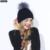 2016 Oferta Especial de Invierno de Visón Y Zorro Casquillo de la Bola de Pom Poms Gorros sombrero Para Las Mujeres de Lana de la Muchacha Hatknitted Estrenar Grueso femenino