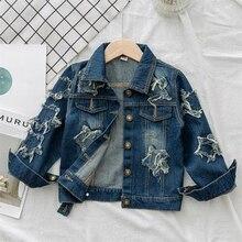 Benemakerเด็กWindbreaker Unicornกางเกงยีนส์แจ็คเก็ตสำหรับสาวเด็กเสื้อโค้ทDenimเสื้อผ้าเย็บปักถักร้อย 4 14Yเด็กOuterwear YJ083