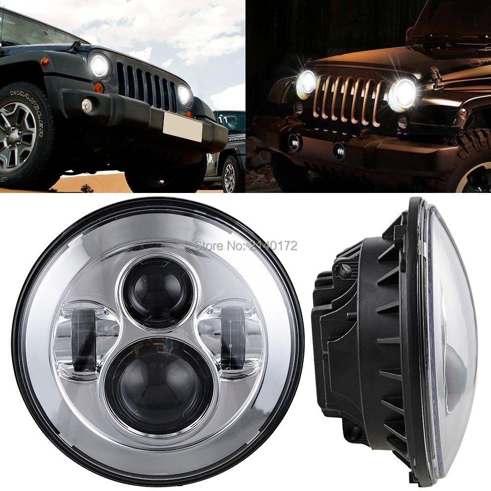 7 40Вт фары светодиодные фары ближнего света для Jeep Вранглер JK, как Харли Дэвидсон мотоцикл проектор Daymaker светильники