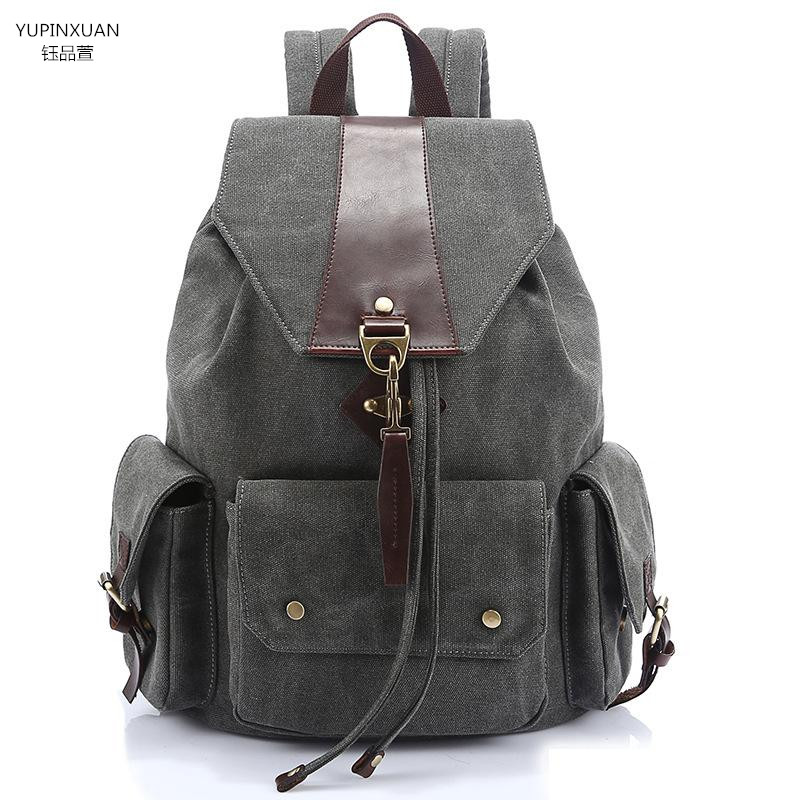 YUPINXUAN Women's Canvas Backpack High Quality Female Large Capacity Backpacks Student Waterproof Rucksack Mochila Estudiante