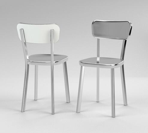 modern steel furniture. yingyi new design modern stainless steel dining chair silver color furniture e