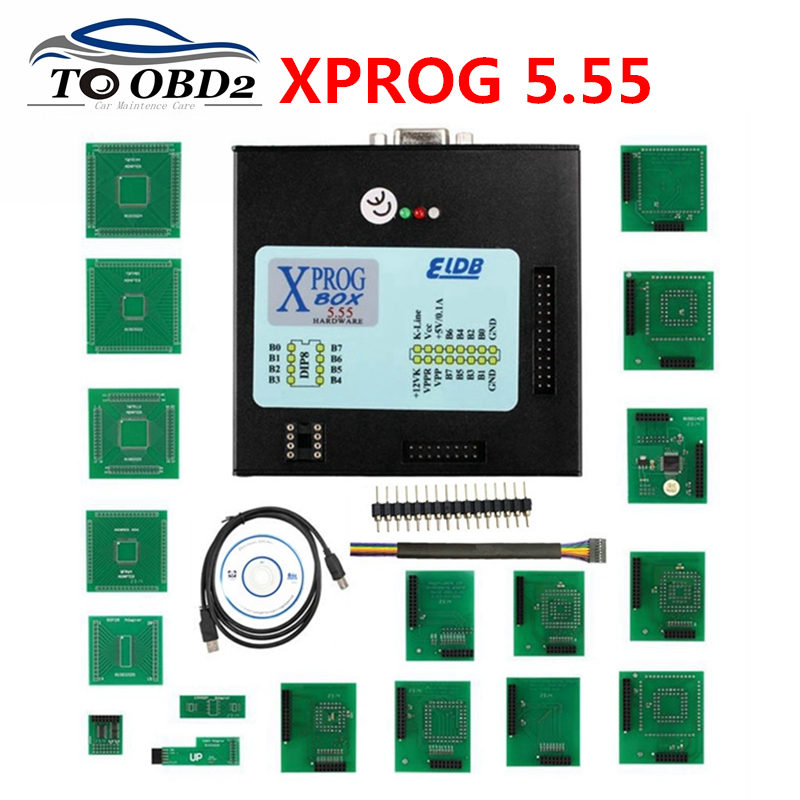 <font><b>XPROG</b></font> 5.55 5.74 <font><b>5.84</b></font> Black Metal Box ECU Programming Auto Chip Tuning <font><b>XPROG</b></font>-M V5.55 <font><b>XPROG</b></font> M Better Than 5.0 Stable Function image