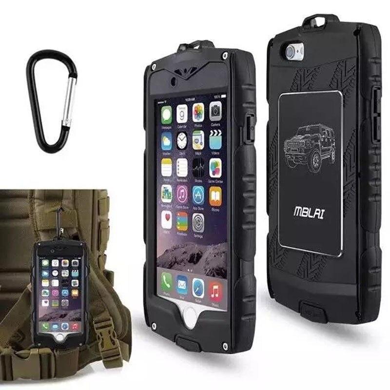 imágenes para Original EE.UU. Marca Aire Libre Deporte Agua/Dirt/Prueba del Choque Función de Blindaje Duro Armor Case Para el iphone 6 6 s Cinturón Clip Mosquetón