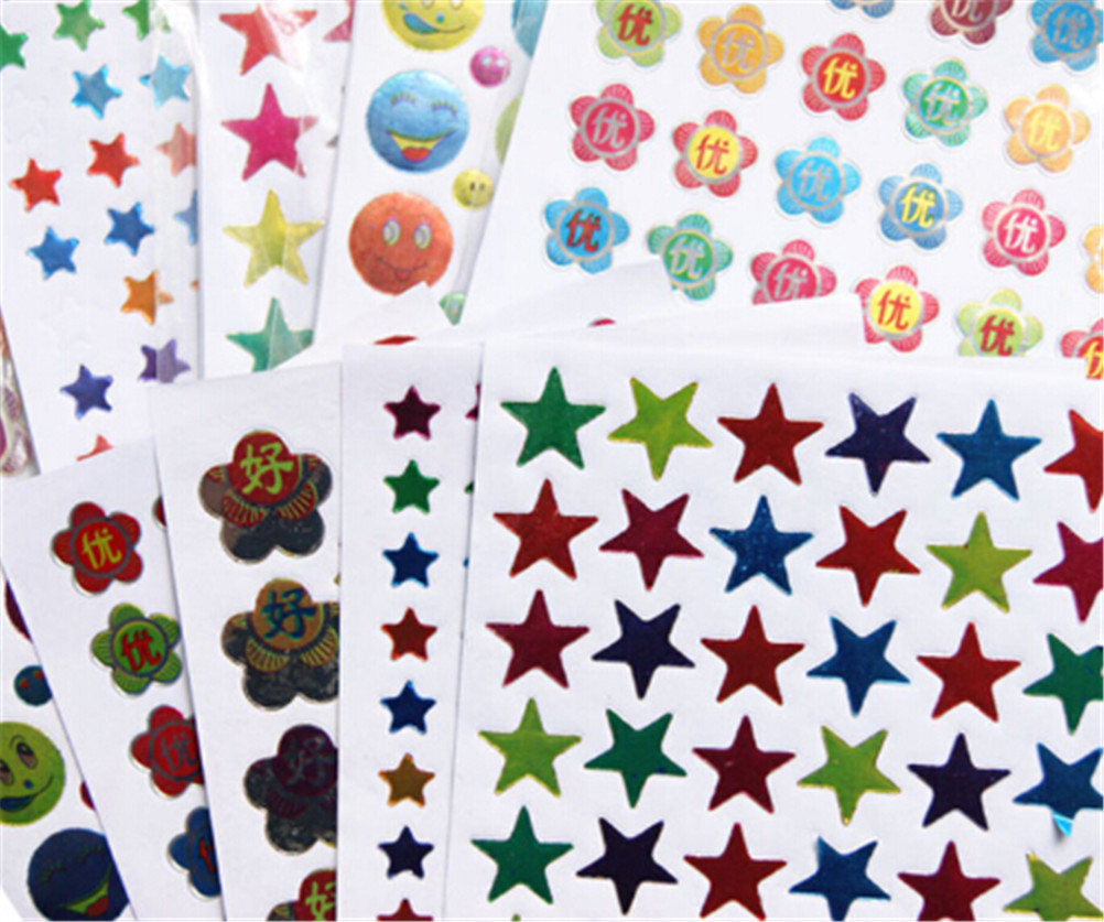 10pcs Notebook Stickers Funny Paper Lable Classic Laptop Sticker Kids Gift Toy