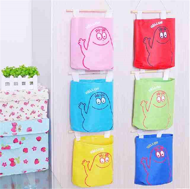 Hanging Wall Storage Pocket Organizer Basket For Toys Bags At The Door Storage Containers Cartoon Organizer  sc 1 st  AliExpress.com & Hanging Wall Storage Pocket Organizer Basket For Toys Bags At The ...