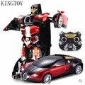 Kingtoy ребенок USB зарядка RC автомобиль деформируется автомобиля робот вспышка сменные робот игрушка