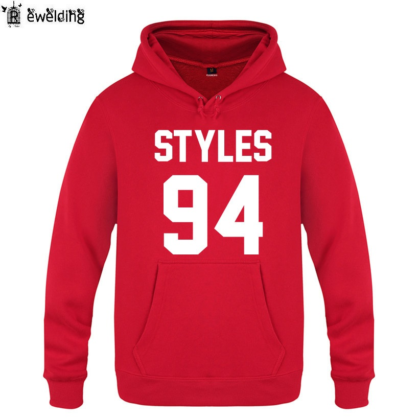 Mens Hoodies Rock One Direction Hoodie Men Fleece Long Sleeve Harry Styles 94 Print Man's Sweatshirt Pullover Moleton Masculino