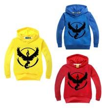 2-16Y Pokemon Go Clothing Teenage Boys Hoodies and Sweatshirt Children Casual Top Kids Jacket Cartoon Coat Toddler Girls Outwear