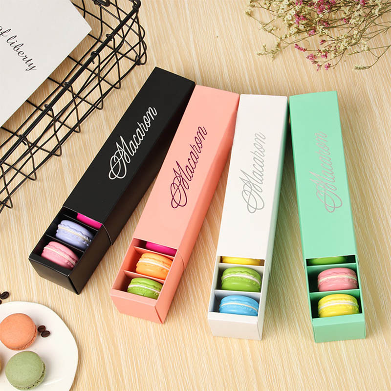 Macaron Packing  Box Beautifully Packaged Wedding Party Cake Storage Biscuit Paper Box Cake Decoration Baking Accessories