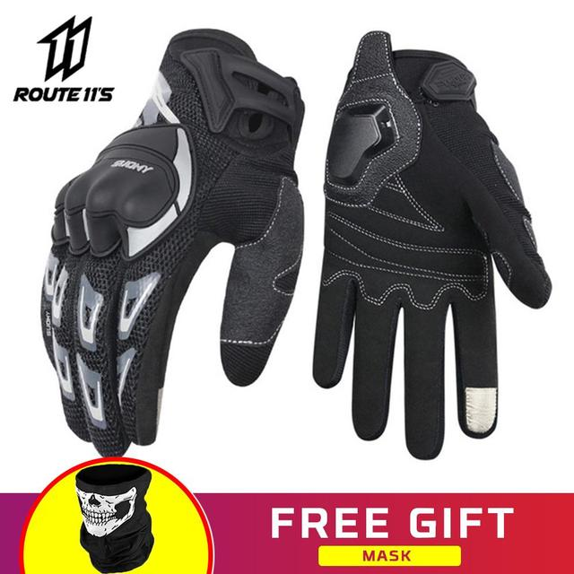 SUOMY Motorcycle Gloves Touch Screen Gloves Guantes Moto Motorbike Motorcycle Racing Riding Gloves For Motorcycle Full Finger