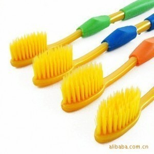 Bag mail quality goods South Korea nano resin double toothbrush nano toothbrush wholesale soft hair brush and a loading