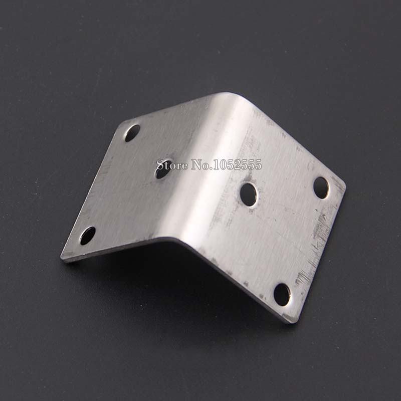 40 40 40mm stainless steel angle bracket L shape thickness 2 0mm frame board support furniture hardware connection parts K110 in Corner Brackets from Home Improvement