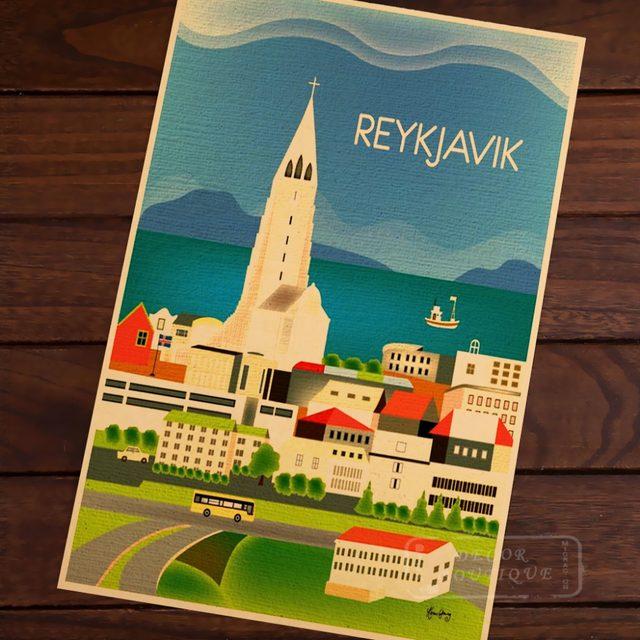 Tienda Online Reykjavik, Islandia vertical destino arte vintage ...