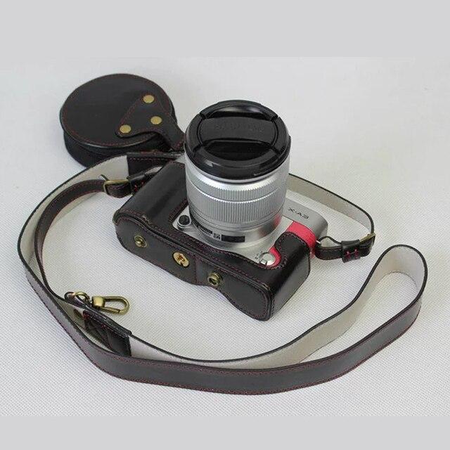 high quality PU Leather Camera bag Case For Fujifilm XA3 X-A3 XA2 XA10 XM1 X-A20 XA5 16-50 18-55 lens Cover with Bottom Opening