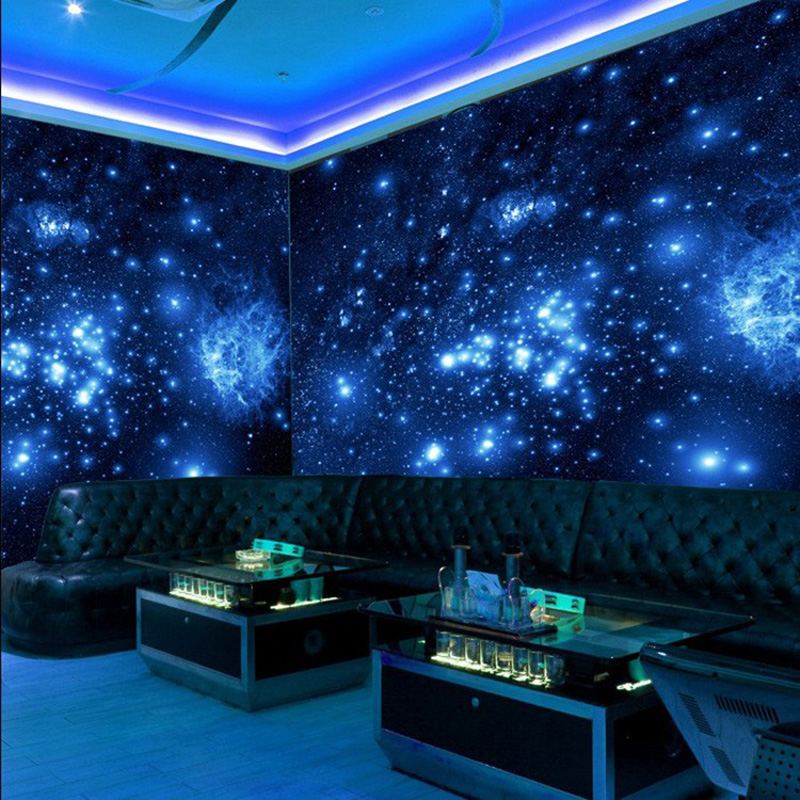 Fashionable Interior Design 3D Wallpaper Restaurant Clubs KTV Bar Fluorescent Wallpaper Modern Creative Decor Mural Papel Tapiz Herbal Products f4843c1c797abf1a256c88: 1 ㎡