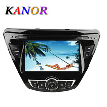 1024*600 Quad Core Autoradio Central Multimedia Android 5.1.1 For Hyundai Elantra 2014 Car DVD GPS Navigation para som de carro