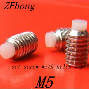 20 pcs M5 * 5/6/8/10/14/22/27/32/35/37/42 ponta de nylon conjunto de aço inoxidável hex soquete parafuso