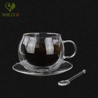 New Arrival 220ml High Quality Coffee Cup Double Wall Handmade Mugs Heat Resistence Milk Tea Cups