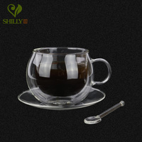 New Arrival 220ml High Quality Coffee Cup Double Wall Handmade Mugs Heat Resistence Milk Tea Cups