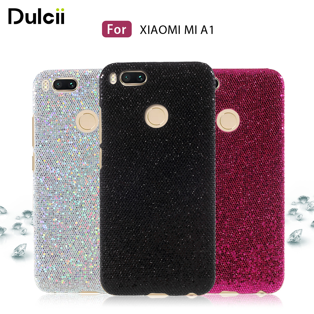 Galleria fotografica DULCII Mi A1 Phone Case for Xiaomi Mi 5X Xiomi mia1 Mi5X Flash Glittery Sequins Plastic Hard <font><b>Cover</b></font> <font><b>Smartphone</b></font> Back Shell