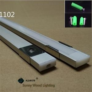 Image 3 - 5 30ชิ้น/ล็อต1M 40นิ้ว/ชิ้นอลูมิเนียมLed Stripช่อง8 11Mm PCB Board Barโคมไฟอะไหล่Linearเพดานตู้