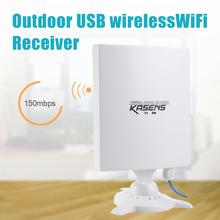 KASENS N9600 150 Mbps de Alta Potencia 6600 MW Adaptador WiFi USB Inalámbrico Tarjeta de red con Antena 80DBI 2.4G Dual de Largo Alcance de Alta poder(China (Mainland))