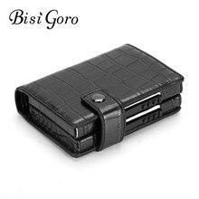BISI GORO 2019 Aluminum Wallet Credit Card Holder Metal with RFID Blocking Multifunction Wallet Travel Metal Case