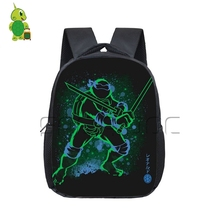 4aa90a92d811 Cool Teenage Mutant Ninja Turtles Fluorescence Backpack Kids Book Bag  Colorful Leo Raph Students School Bags