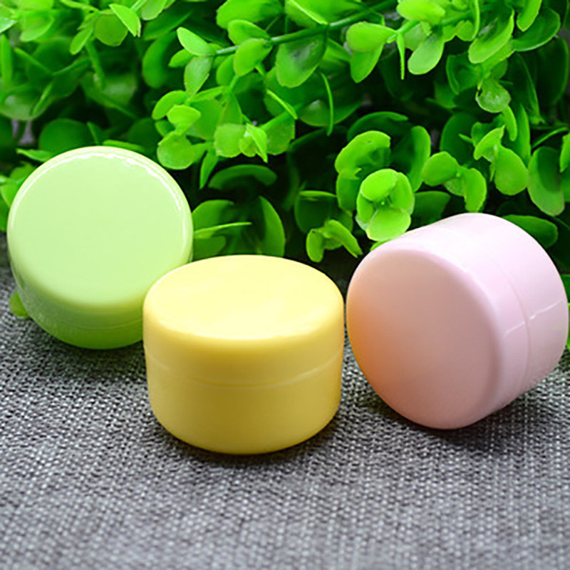 20g Plastic Empty Makeup Jar Pot Refillable Sample Bottles Travel Face Cream Lotion Cosmetic Container New Mutiple Color