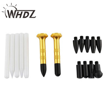 Car Dent Removal Tool PDR Aluminum Knock Down Pen with Screw-on Heads -PDR Tap Down Pen Auto Body Paintless Dent Repair Tools