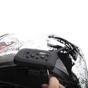Image 5 - Ejeas V6 Pro Intercom Helm Bluetooth Headset 850Mah Intercomunicador Microfoon Metalen Klem MP3 Gps 1200M Voor 6 Riders