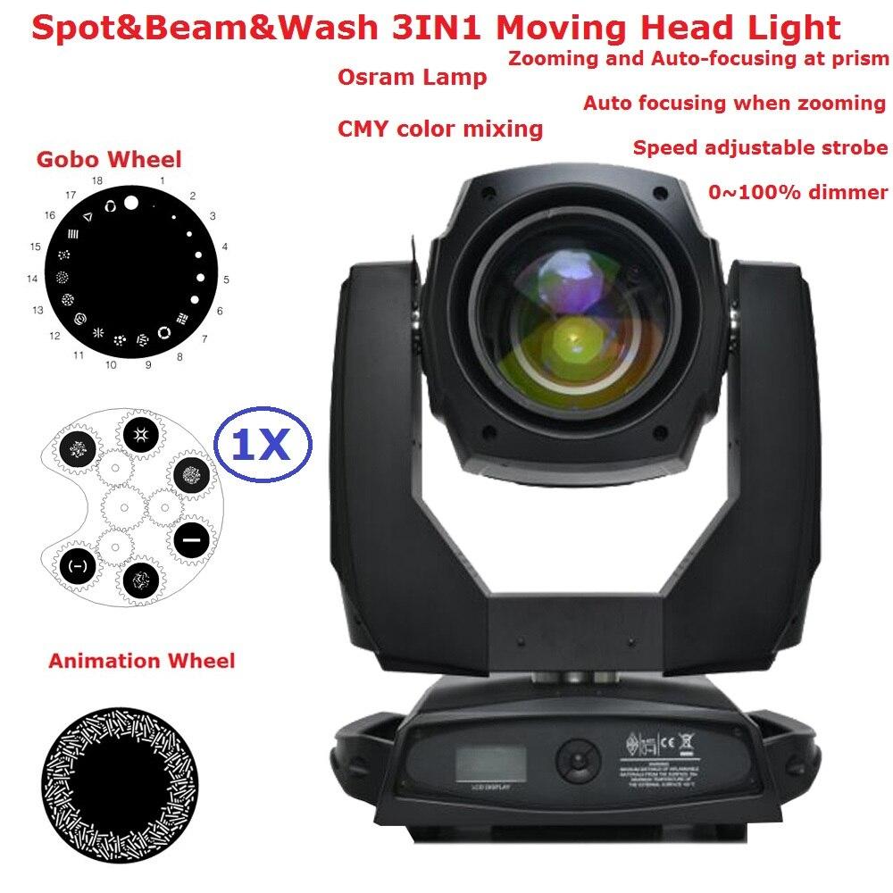 1 XLot Carton paquet osra-m lampe 440 W faisceau de lavage Spot 3IN1 lumières de scène de tête mobile avec fonction de mise au point électronique écran LCD