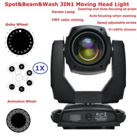 1XLot Carton Package Osra m Lamp 440W Wash Beam Spot 3IN1 Moving Head Stage Lights With Electronic Focuse Function LCD Display