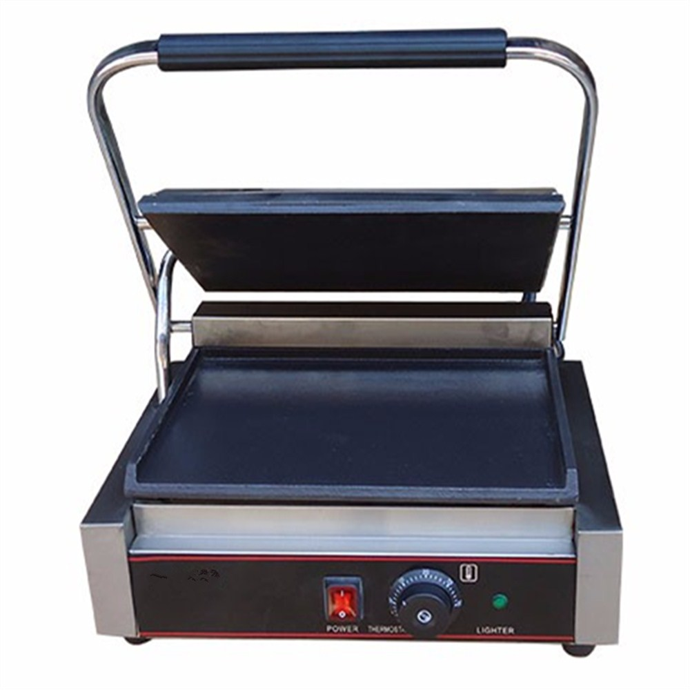 Best Sale Commercial Heavy Duty Non-stick 220v Electric Flat Iron Plates Panini Sandwich Contact Grill Griddle Toaster Machine commercial heavy duty non stick 220v electric ribbed