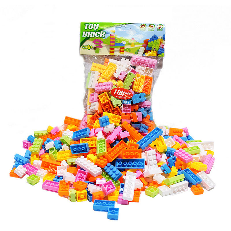 144Pcs/Set Plastic Building Bricks Mixed Color Kids DIY Handwork Modeling Building Toy Bricks Block Educational Toy mr froger carcharodon megalodon model giant tooth shark sphyrna aquatic creatures wild animals zoo modeling plastic sea lift toy