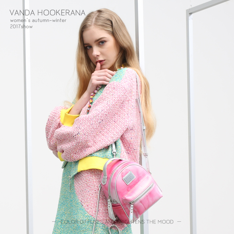 Vanda Hookerana 2017 Women Girl Mini Shoulder Bag Colorful Fashion Art Bag Strawberry Color Backpack Female Personality Backpack vanda robert s delight купить