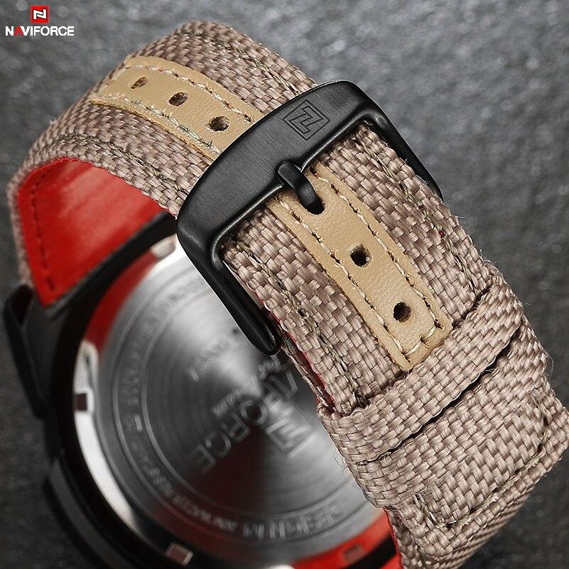 NAVIFORCE Klockor Herr Militär Sport Quartz Klockor Lyx Märke Mode - Herrklockor - Foto 4