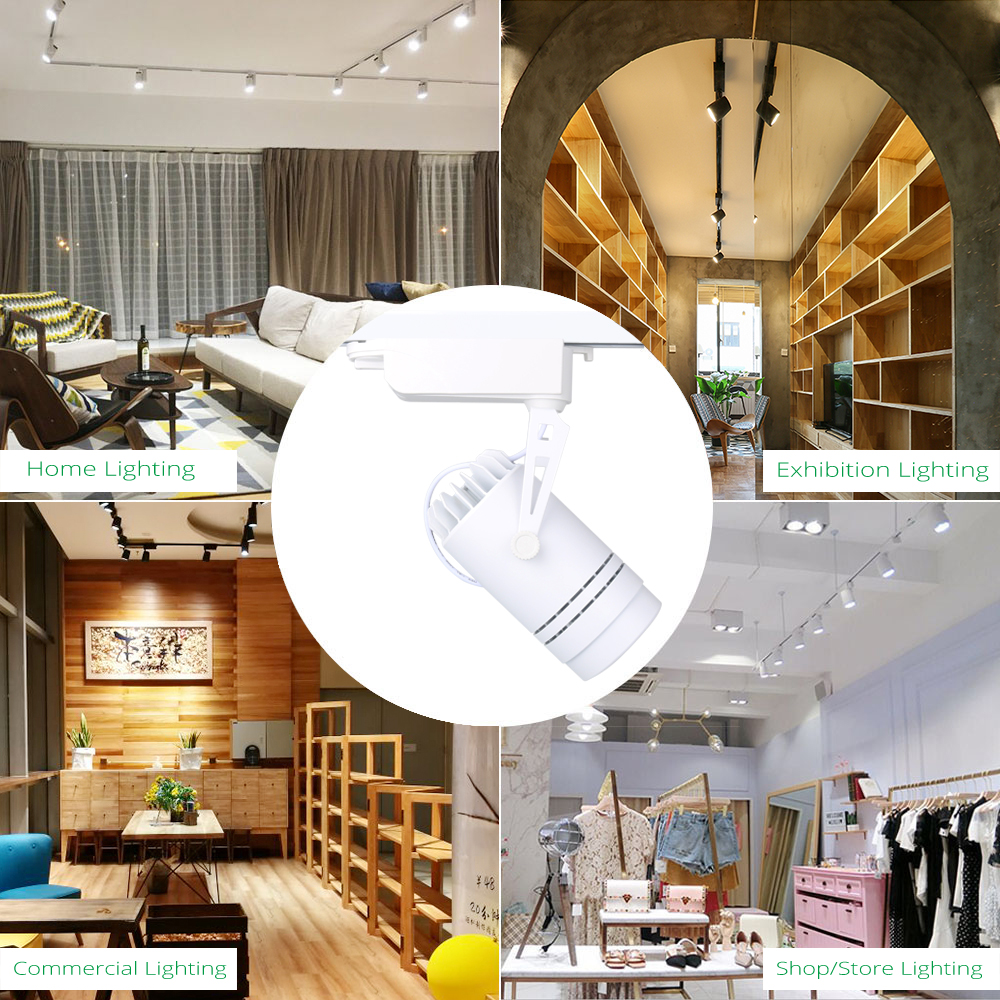 Led tracking light dimmable 15w spot rail lamp clothing shoe store shop showroom focusing fixtures spotlights lights lighting in track lighting from lights