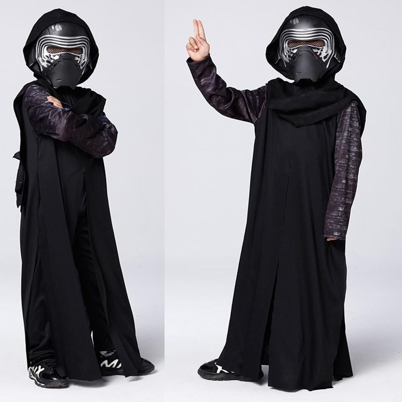 2019 Nieuwe Arriva De Kracht Wekt Jongen Star Wars Episode Vii Deluxe Kylo Ren Kostuum Halloween Film Kostuum Kinderen Kleding Helder In Kleur