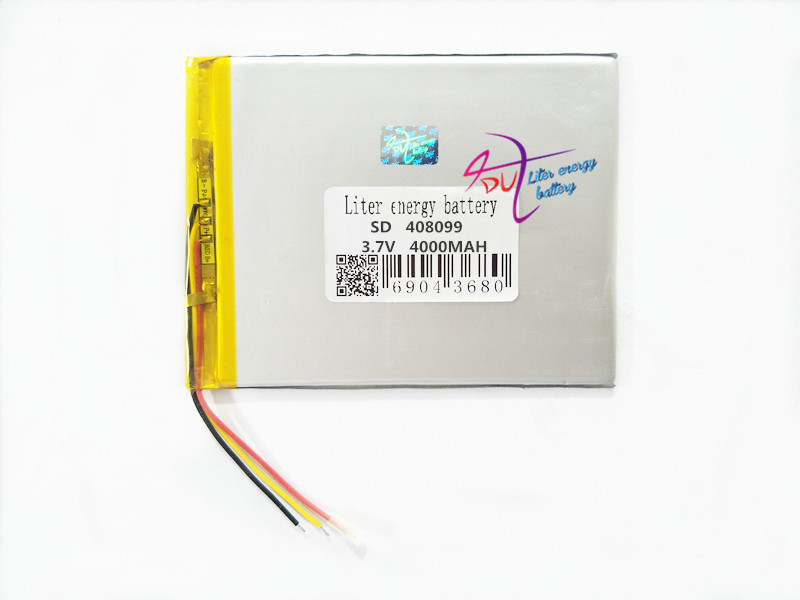 3 line 408099 <font><b>3.7V</b></font> <font><b>4000MAH</b></font> 4080100 <font><b>Battery</b></font> Tablet PC tablet generic brand new lithium polymer <font><b>battery</b></font> image