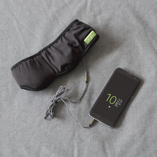 Fones de ouvido sleepace, confortável, lavável, máscara para os olhos com bloqueio de som/cancelamento de ruído, fone de ouvido, controle remoto app inteligente
