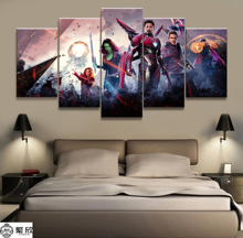 Hot Sales Without Frame 5 Panels Picture Marvel Avengers Film Canvas Print Painting Artwork Wall Art Wholesale