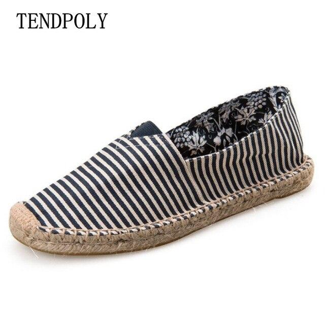 2018 Trung Quốc gió phổ biến mùa xuân phần lười biếng vải giản dị Người Đàn Ông giày cho nam giới và dệt sợi dây thừng ngư dân giày đạp cây gai dầu giày