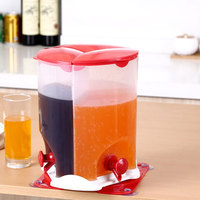 New Household Suction Cup Rotating Beverage Barrel Three Grid Juice Bucket Sub canned Rotating Pot With Faucet Beer Barrel