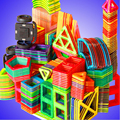 1 piezas de tamaño estándar magnética bloques de construcción 24 diferentes tipos de los niños juguetes educativos de plástico DIY bloques de Juguetes